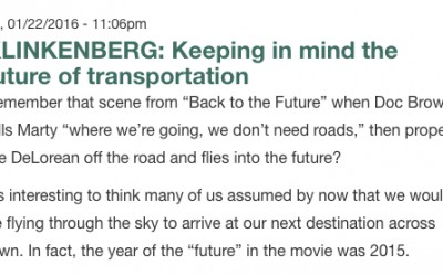 Keeping in Mind the Future of Transportation